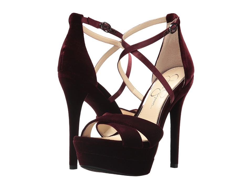 Jessica Simpson Roxelle (Rouge Noir Velvet) High Heels