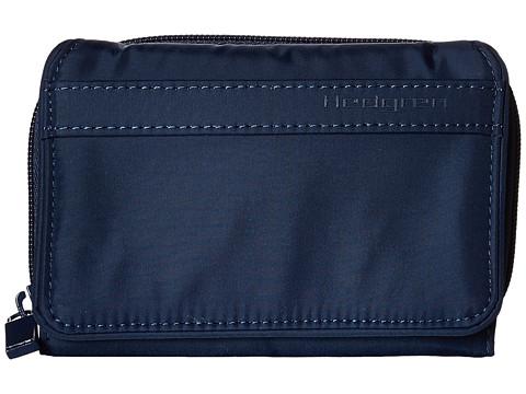 Hedgren Yen Zipper Purse with Flap - Dress Blue