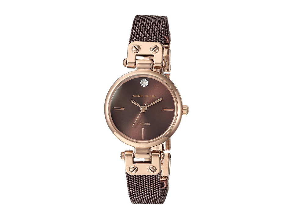 Anne Klein - AK-3003RGBN (Brown/Rose Gold-Tone) Watches