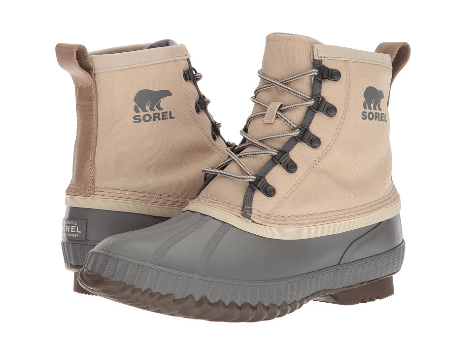 SOREL - Cheyanne II Short Canvas (Oatmeal) Mens Waterproof Boots