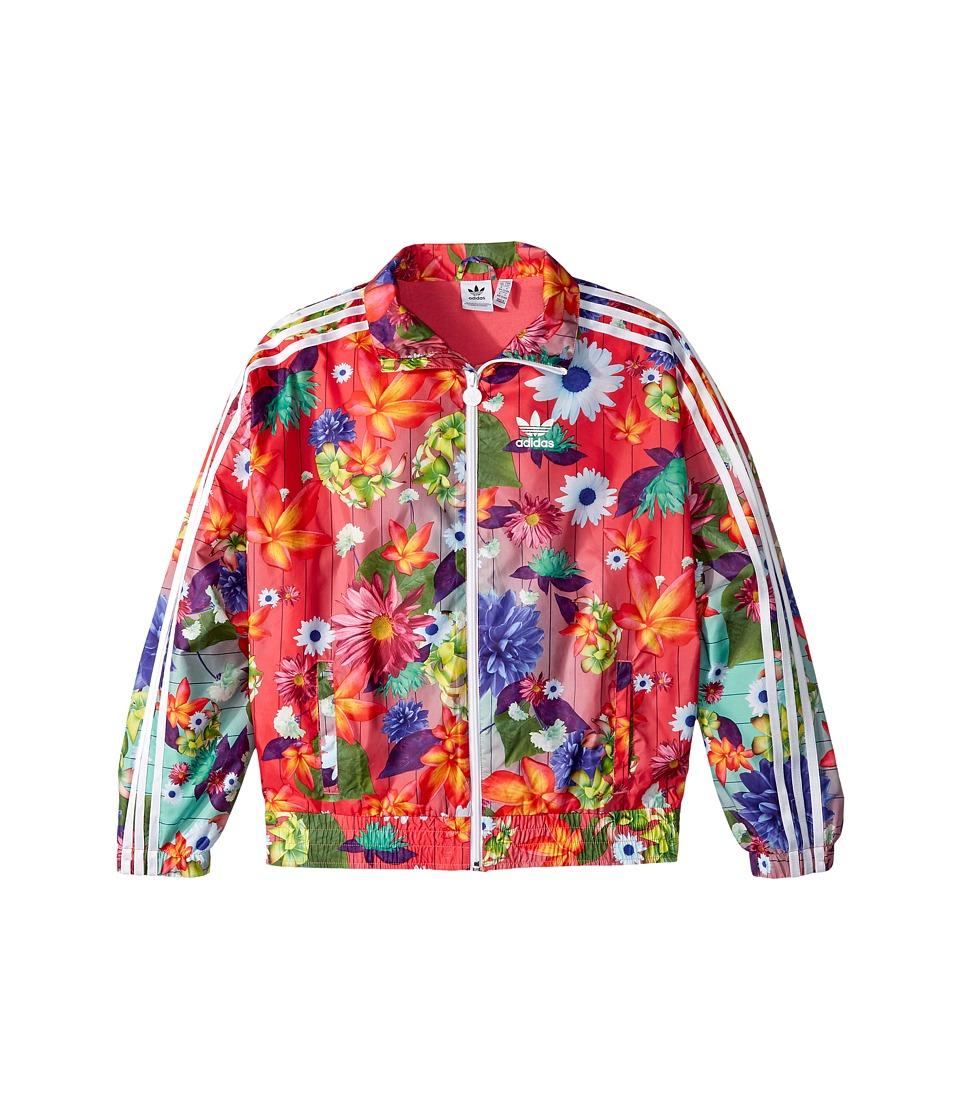 adidas Originals Kids Floral Windbreaker (Little Kids/Big Kids) (Multicolor) Girl