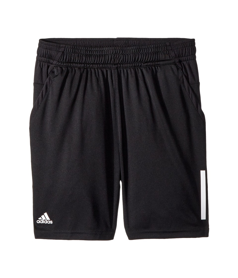 Image of adidas Kids - 3-Stripes Club Shorts (Little Kids/Big Kids) (Black) Boy's Shorts