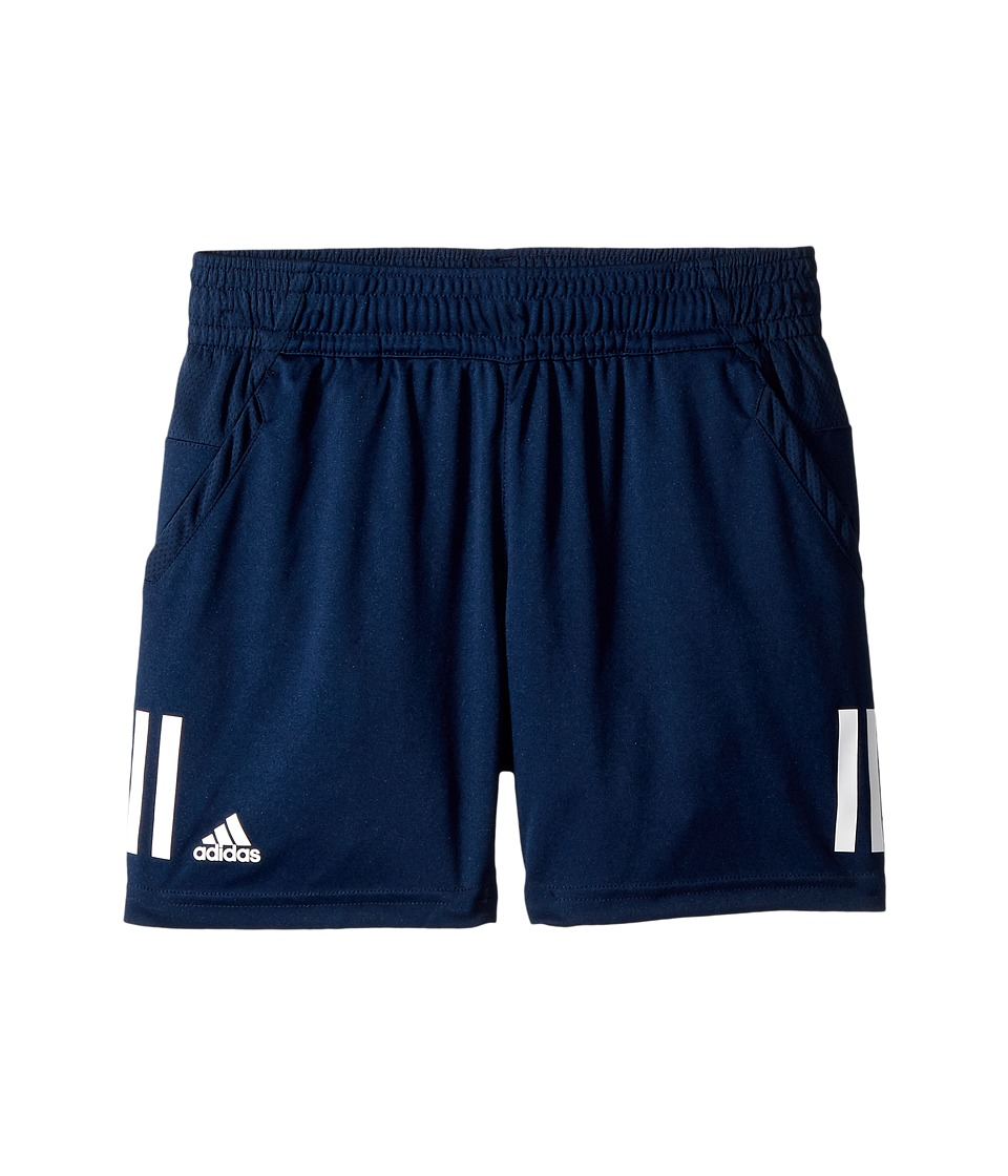 Image of adidas Kids - 3-Stripes Club Shorts (Little Kids/Big Kids) (Collegiate Navy) Boy's Shorts