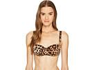 Dolce & Gabbana Stretch Satin Lace Cheetah Balconette Bra