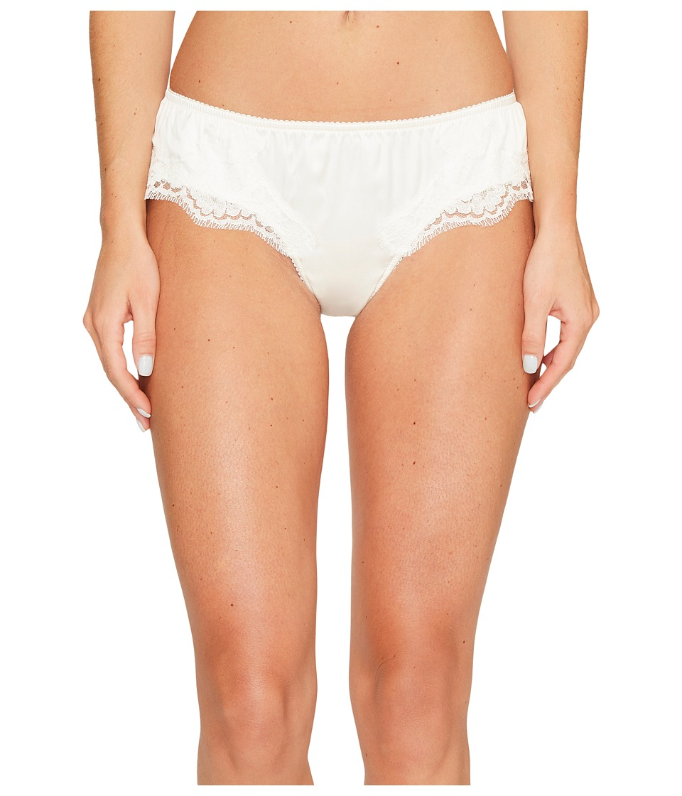 Dolce & Gabbana Stretch Satin Lace Lace Panty (White) Wom...
