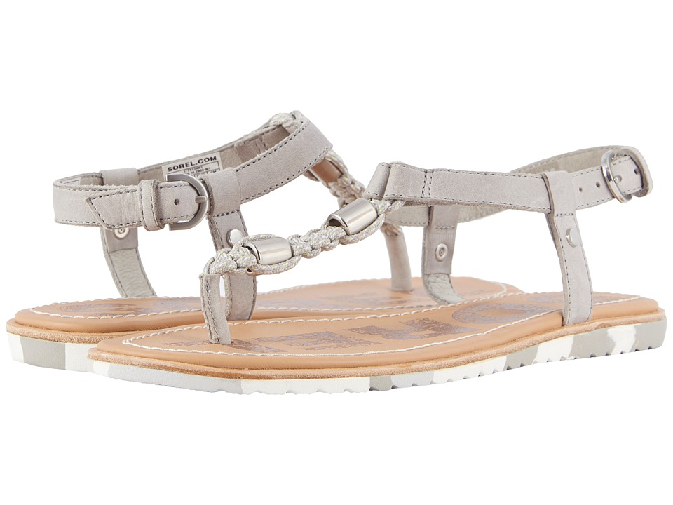 SOREL Ella T-Strap (Dove) Sandals
