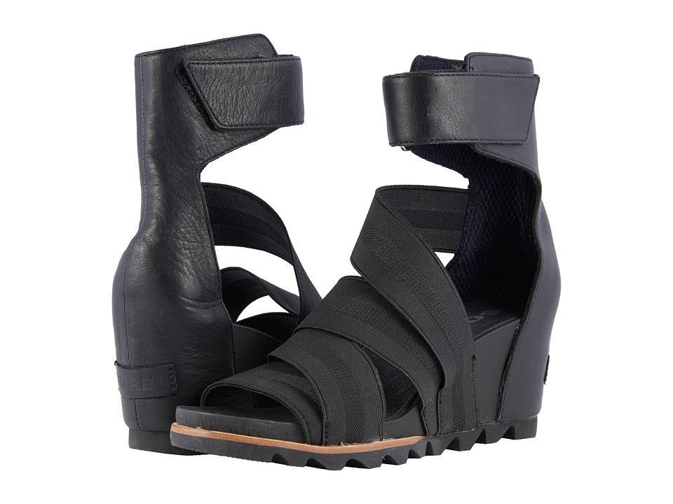 SOREL - Joanie Gladiator II (Black) Womens Shoes