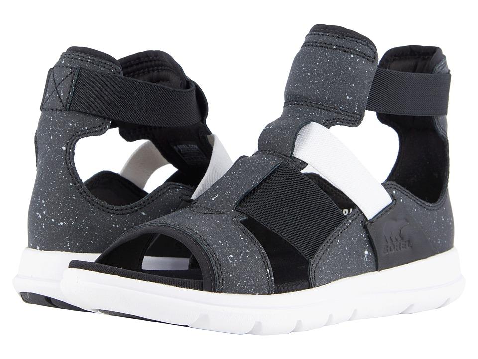 SOREL - Explorer Gladiator (Black) Womens Shoes