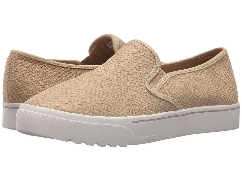 SOREL - Campsneak Slip-On (Oatmeal) Womens Slip on  Shoes