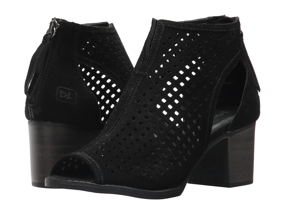 Dirty Laundry Tessa Peep Toe Bootie (Black) Women's Dress Lace-up Boots