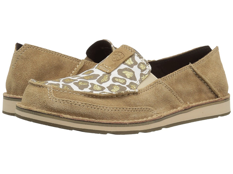 Ariat Cruiser (Dirty Taupe Suede/Sparklin' Leopard) Slip-On Shoes