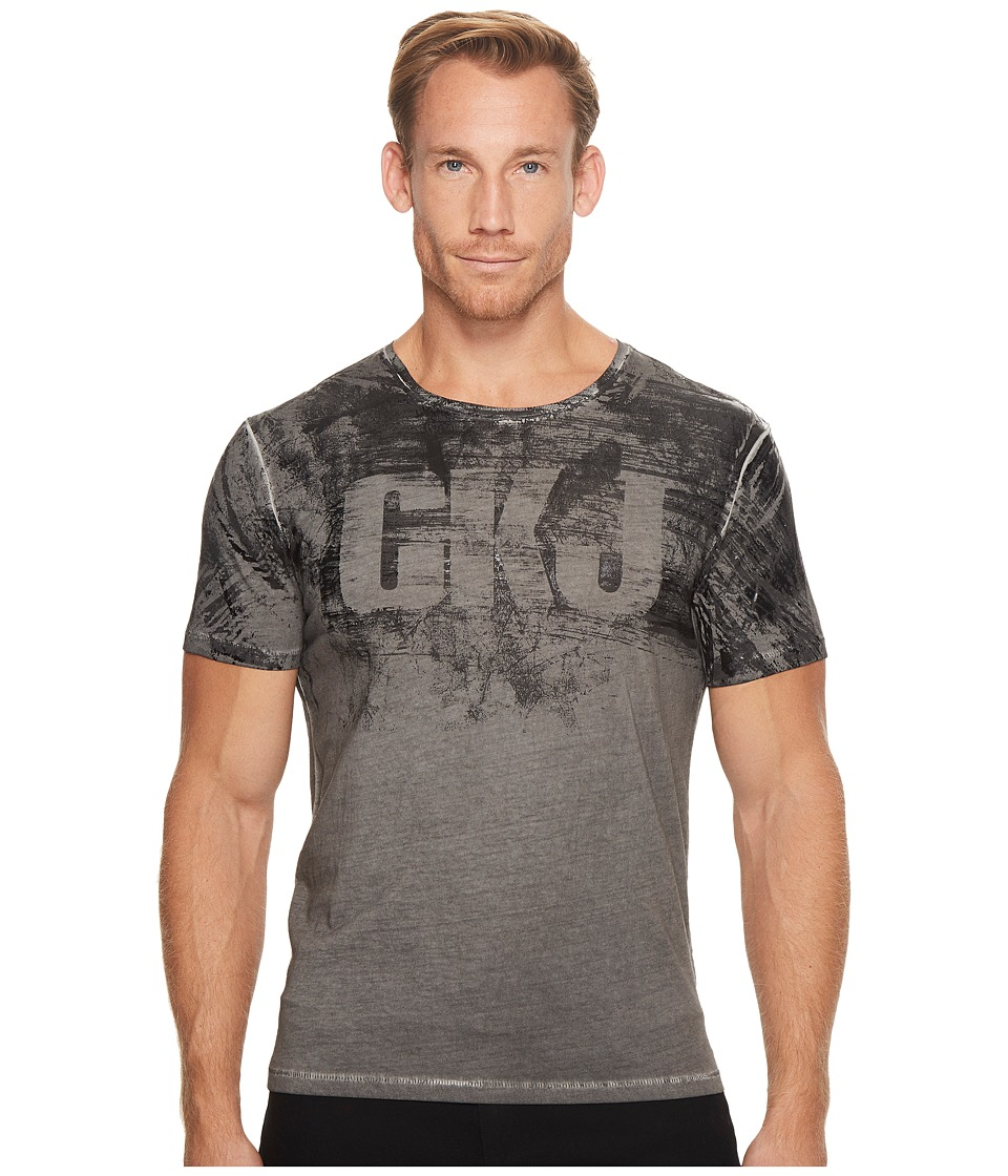Calvin Klein Jeans CKJ Distressed Logo Cold Pigment Tee (Storm Grey) Men