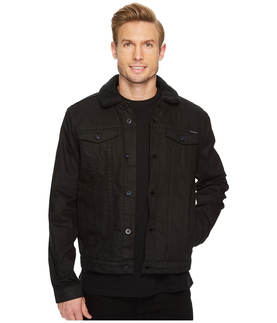 Calvin Klein Jeans Black Sheep Sherpa Trucker Jacket (Black Sheep) Men