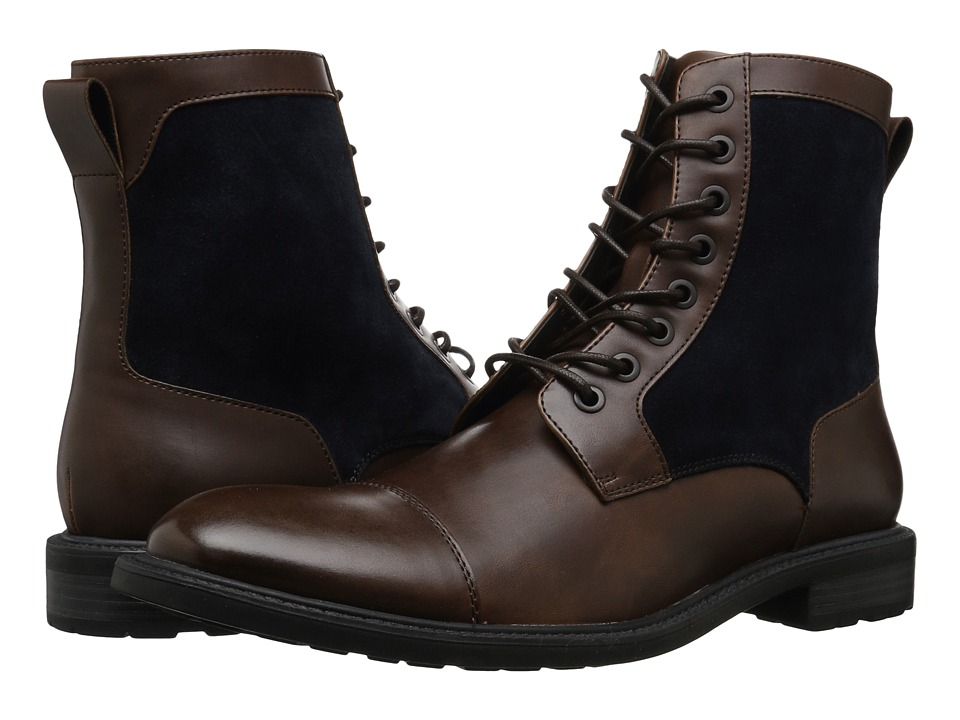 1920s Style Mens Shoes | Peaky Blinders Boots Kenneth Cole Reaction - Design 20655 BrownNavy Mens Lace-up Boots $100.99 AT vintagedancer.com