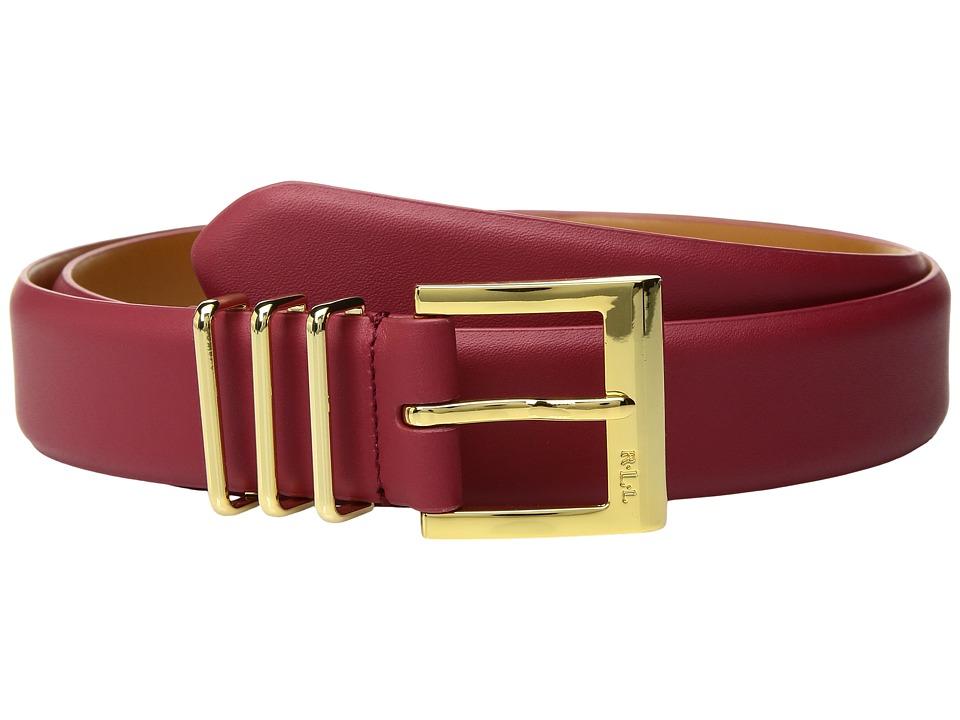 LAUREN Ralph Lauren Classics Triple Keeper Belt (Vermillion) Women