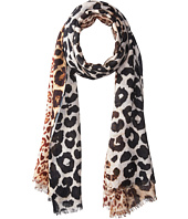 Bindya - Cashmere/Silk Stole Animal Mixed Print Scarf