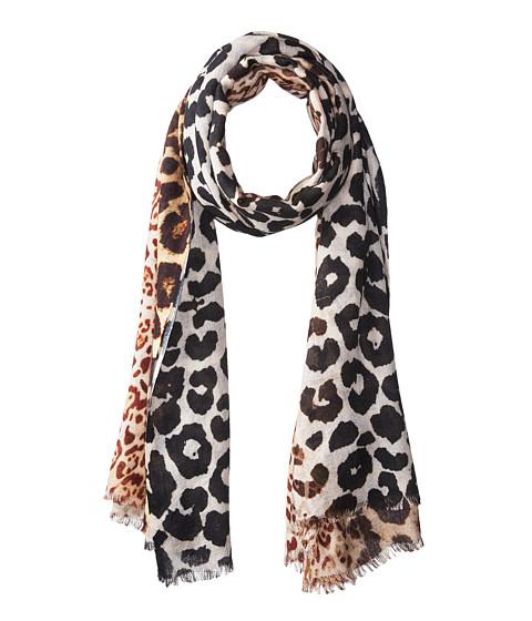 Bindya Cashmere/Silk Stole Animal Mixed Print Scarf - Multi