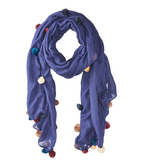 Bindya New Pom Pom 5 Scarf - Purple
