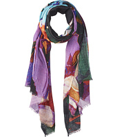 Bindya - Cashmere/Silk Stole Abstract Brush Stroke Scarf