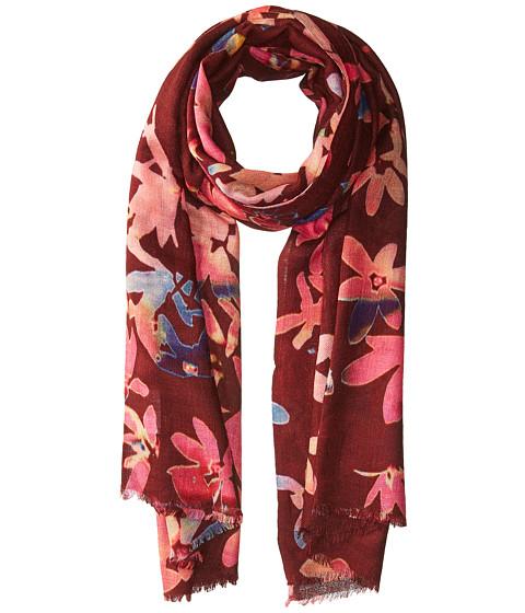 Bindya Cashmere/Silk Floral Mixed Print Scarf - Multi