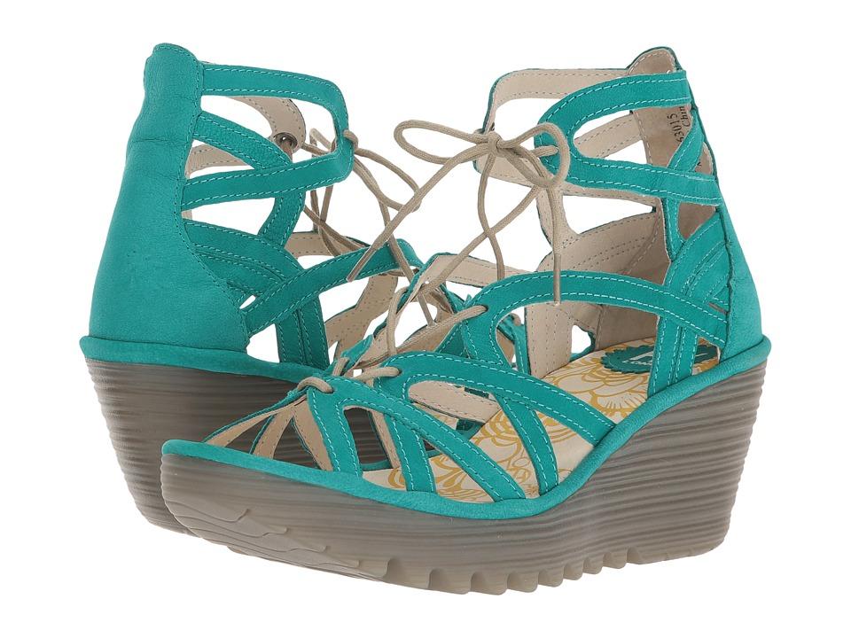 FLY LONDON YUKE663FLY (Verdigris Cupido) Women's Shoes