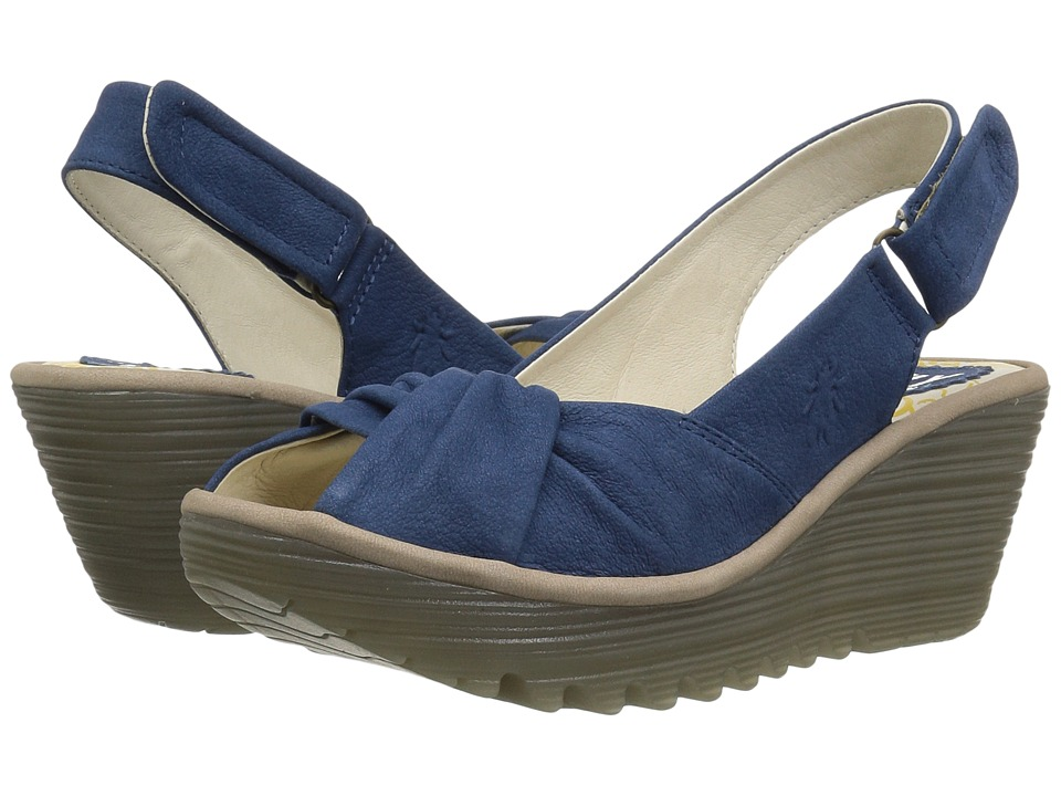 FLY LONDON YATA820FLY (Blue/Concrete Cupido) Women's Shoes