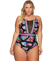La Blanca - Plus Size Your Number One Fan Hi-Neck Plunge Mio