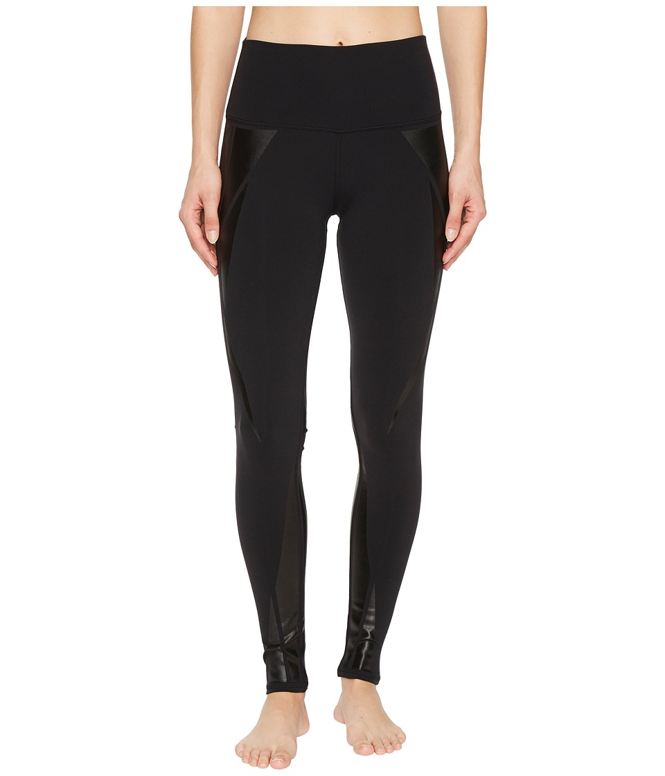 ALO - High Waisted Airbrush Leggings (Black/Black Facet) Women's Casual Pants -  adult