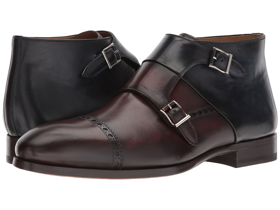 Magnanni - Ruidoso (Mid Brown/Navy) Mens Shoes