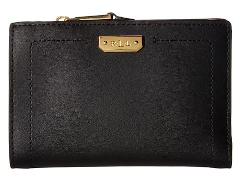 LAUREN Ralph Lauren Dryden New Compact Wallet - Black/Crimson
