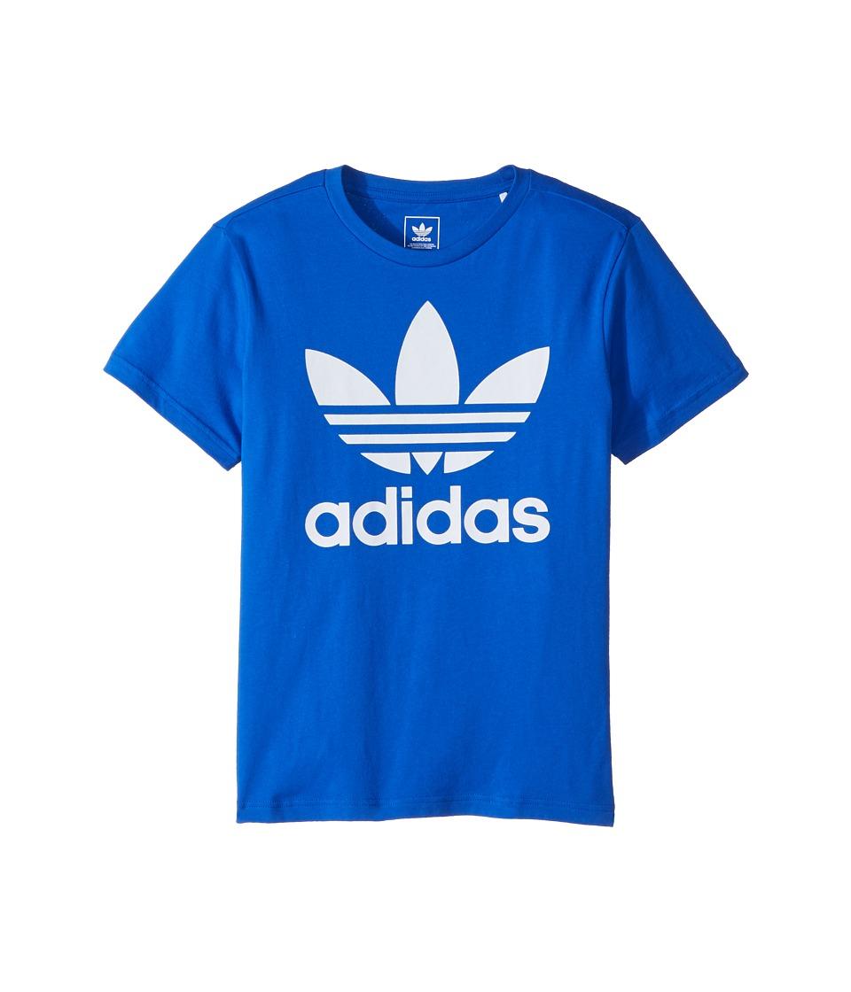 adidas Originals Kids - Trefoil Tee (Little Kids/Big Kids) (Blue/White) Kids T Shirt
