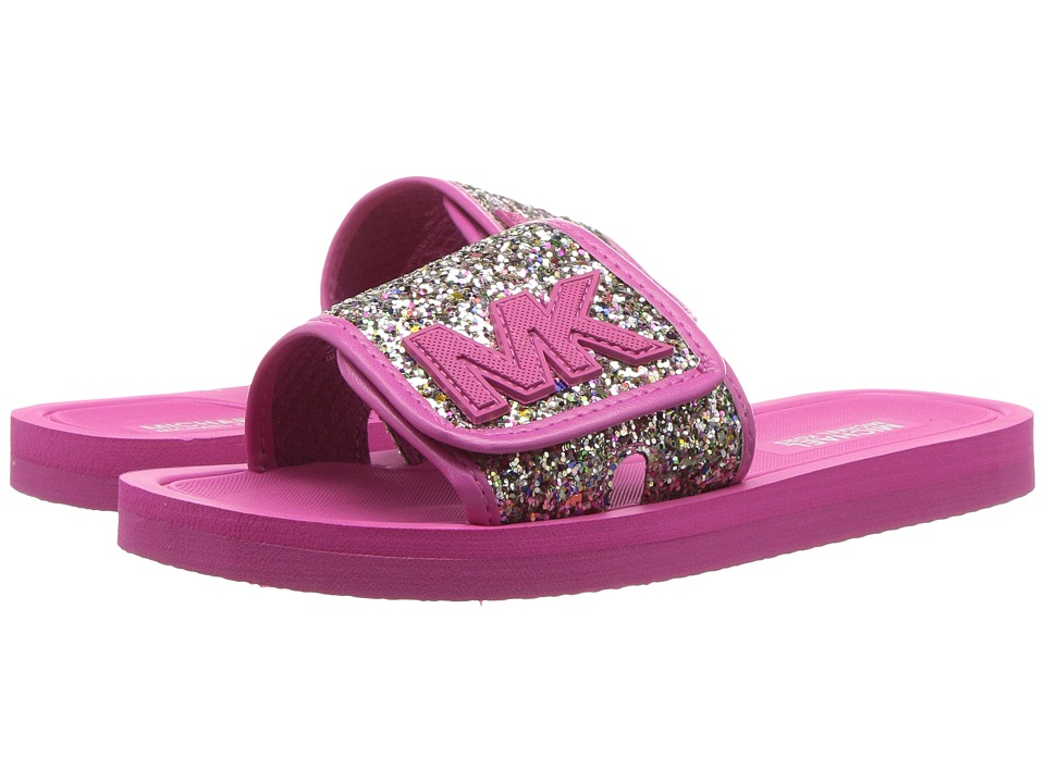 MICHAEL Michael Kors Kids Eli Glow (Little Kid/Big Kid) (Wild Rose Multi Glitter) Girl's Shoes