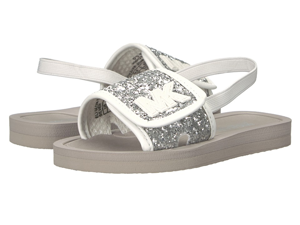 MICHAEL Michael Kors Kids Eli Glow (Toddler) (Silver Glitter) Girl's Shoes