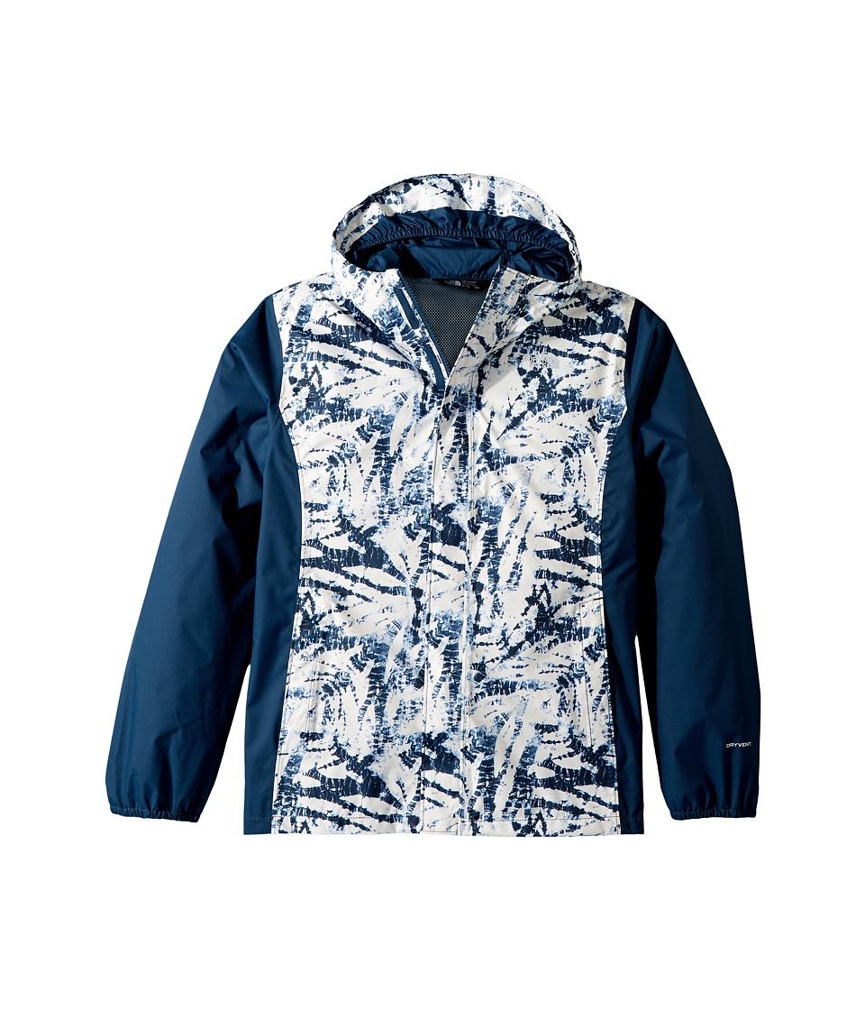 The North Face Kids Resolve Reflective Jacket (Little Kids/Big Kids) (Blue Wing Teal Fern Print) Girl