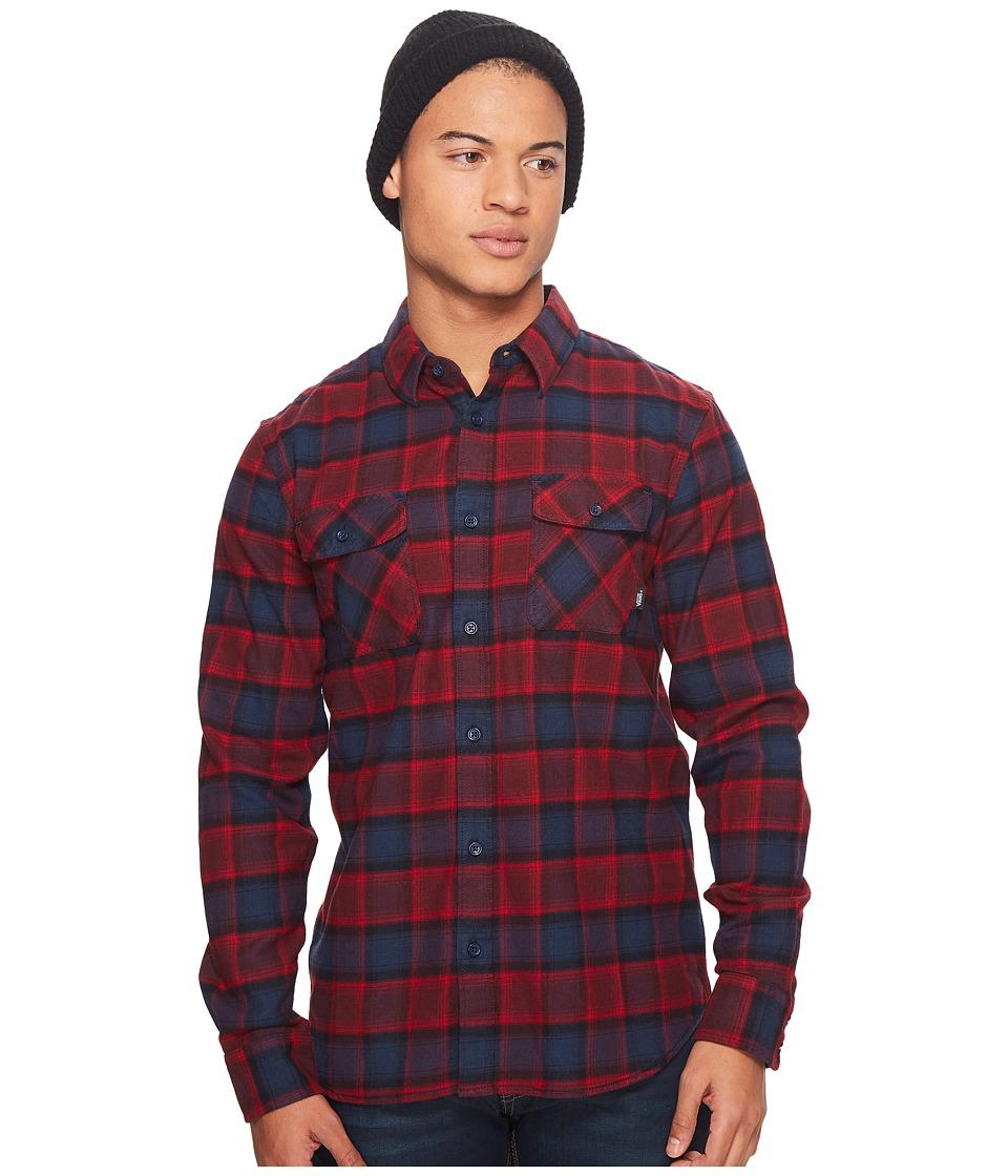 Vans Banfield Flannel Shirt (Dress Blues/Chili Pepper) Men