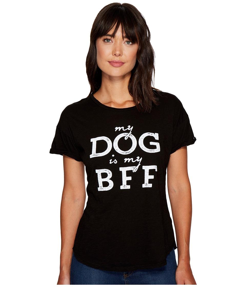 The Original Retro Brand - My Dog Is My BFF Rolled Short Sleeve Crew Neck Tee