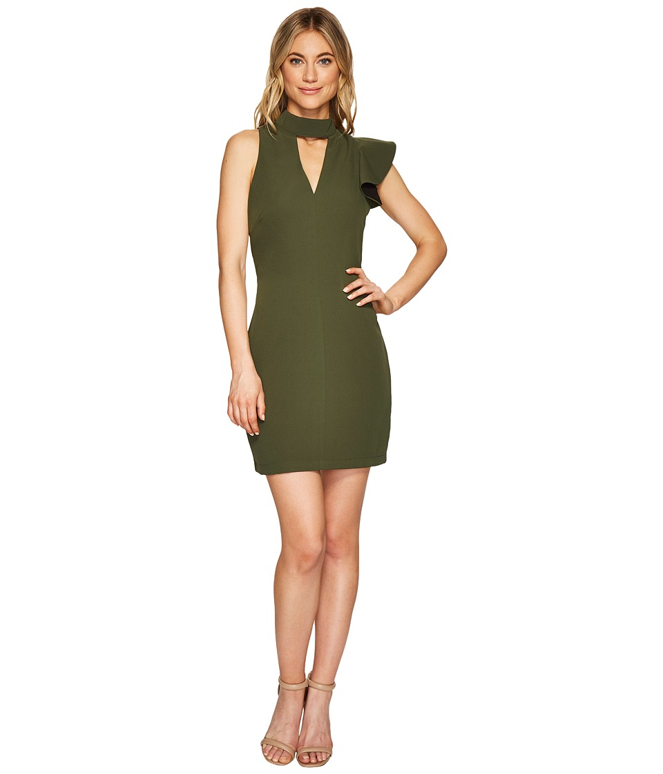Adelyn Rae - Charlotte Bodycon Dress (Olive) Womens Dress