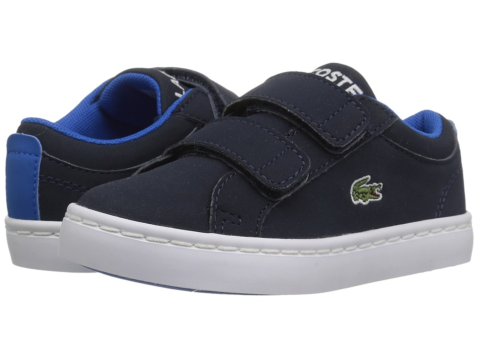 Lacoste Kids Straightset Lace 417 1 (Toddler/Little Kid) (Navy) Kid's Shoes