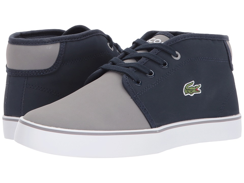 Lacoste Kids Ampthill 417 1 (Little Kid/Big Kid) (Navy/Grey) Kid's Shoes