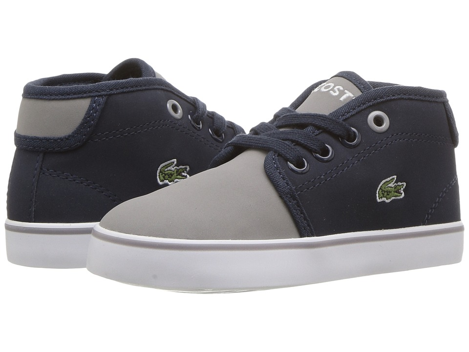 Lacoste Kids Ampthill 417 1 (Toddler/Little Kid) (Navy/Grey) Kid's Shoes