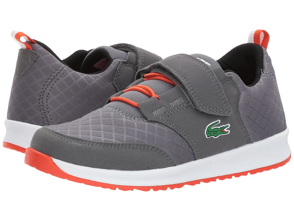Lacoste Kids L.ight 417 1 (Little Kid) (Dark Grey) Kid's Shoes