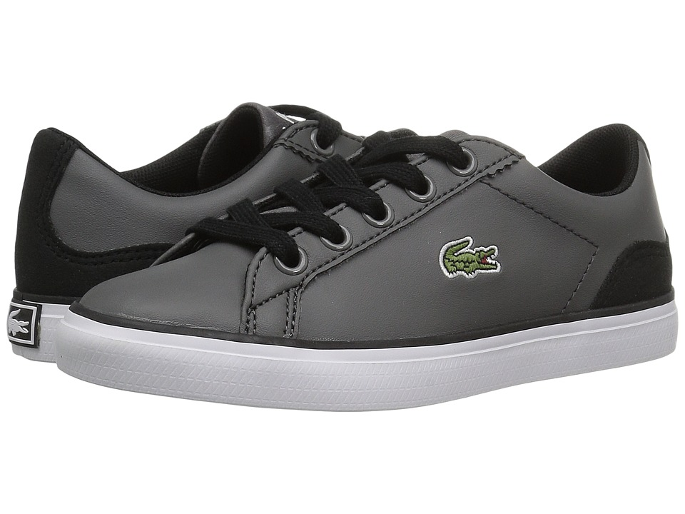 Lacoste Kids Lerond 417 2 (Little Kid) (Dark Grey) Kid's Shoes