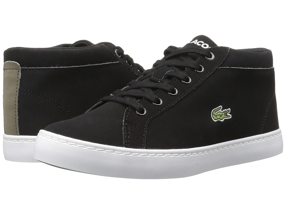 Lacoste Kids Straightset Chukka 417 1 (Little Kid/Big Kid) (Black) Kid's Shoes
