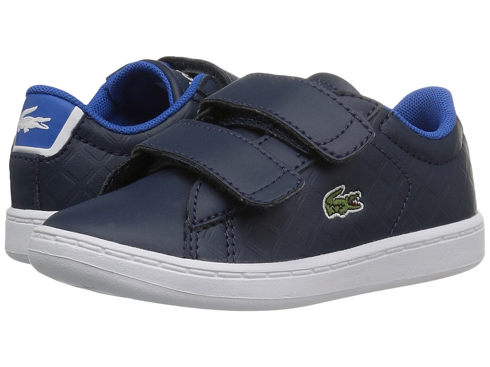 Lacoste Kids Carnaby Evo 417 1 (Toddler/Little Kid) (Navy) Kid's Shoes