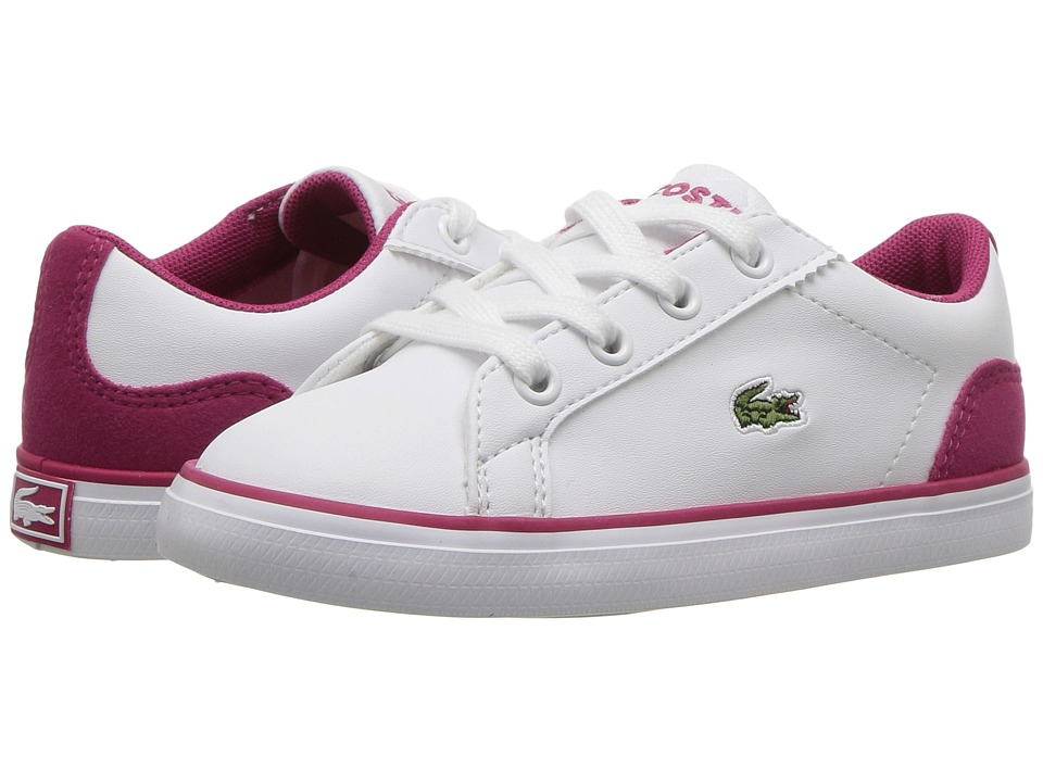 Lacoste Kids Lerond 417 2 (Toddler/Little Kid) (White) Girl's Shoes