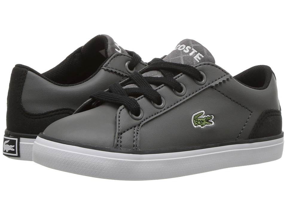 Lacoste Kids Lerond 417 2 (Toddler/Little Kid) (Dark Grey) Kid's Shoes