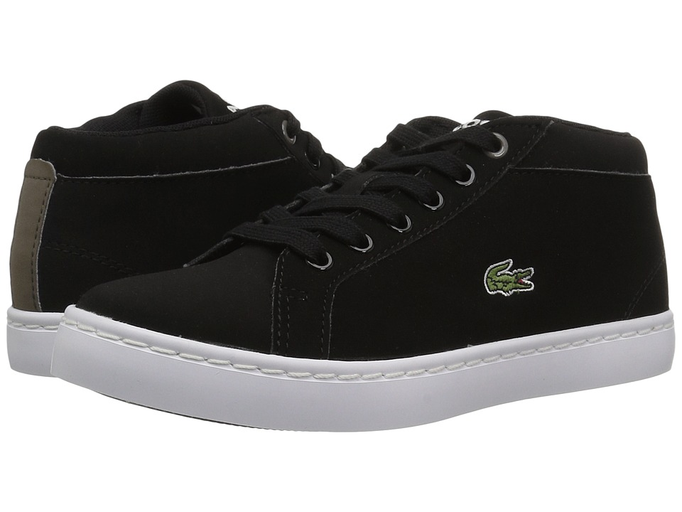 Lacoste Kids Straightset Chukka 417 1 (Little Kid) (Black) Kid's Shoes