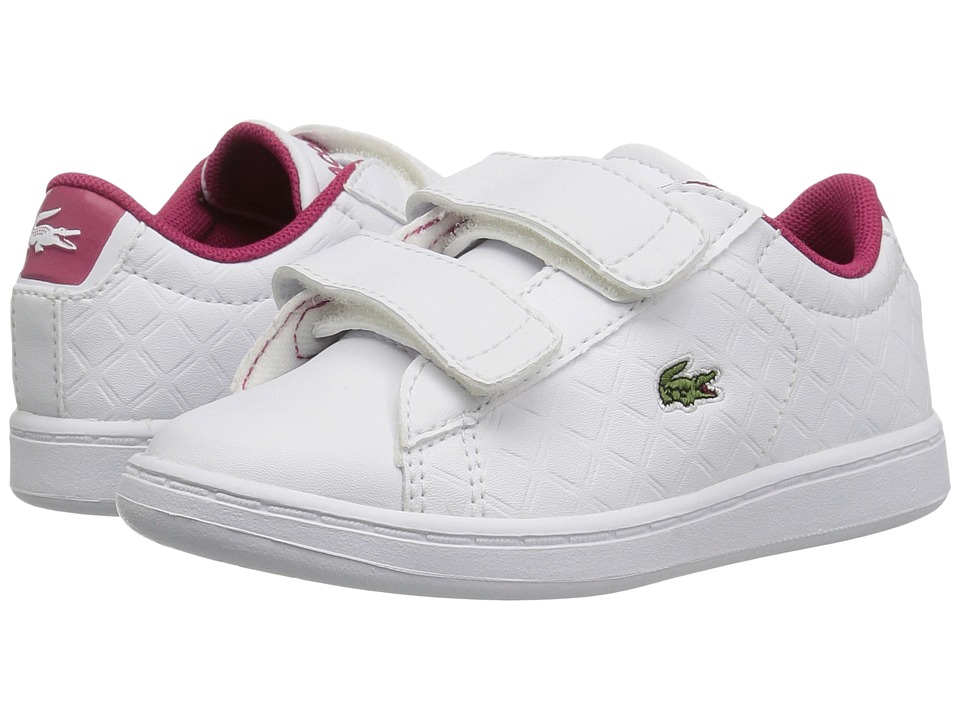 Lacoste Kids Carnaby Evo 417 1 (Toddler/Little Kid) (White) Girl's Shoes