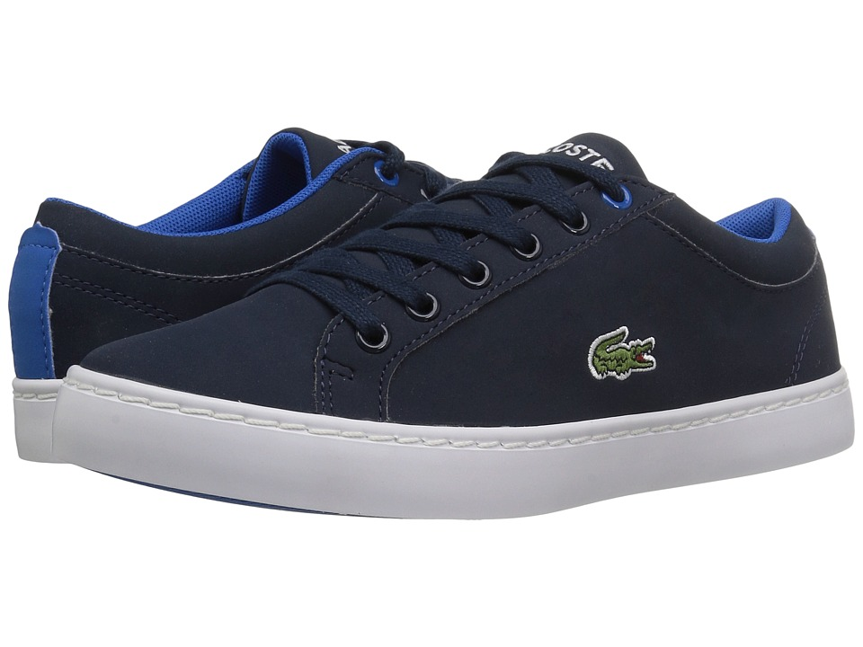 Lacoste Kids Straightset Lace 417 1 (Little Kid/Big Kid) (Navy) Kid's Shoes