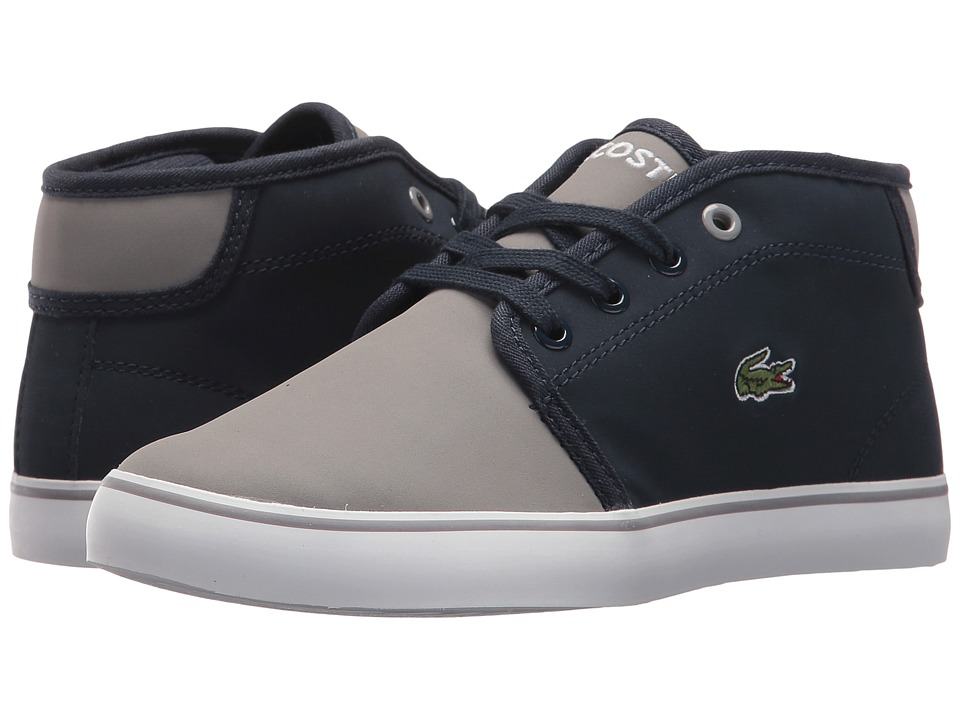 Lacoste Kids Ampthill 417 1 (Little Kid) (Navy/Grey) Kid's Shoes
